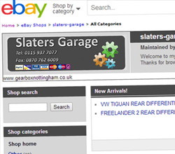 Ebay Store from Gearbox Nottingham
